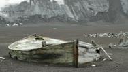 South Shetland Islands, Abandoned Boat Stock Footage
