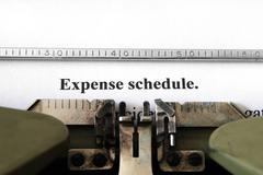expense schedule - stock photo