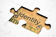 Stock Photo of identity puzzle concept