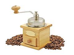 manual coffee grinder. - stock photo