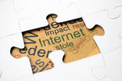 Internet puzzle concept Stock Photos
