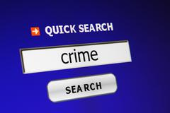 search for crime - stock photo