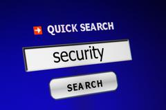 search for security - stock photo