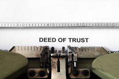 deed of trust - stock photo