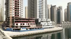 Dubai Marina Pan Stock Footage