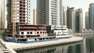 Stock Video Footage of Dubai Marina Pan