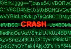 crash concept - stock photo