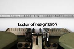 Letter of resignation Stock Photos