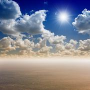 Beautiful sea and sky Stock Illustration
