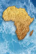 Drought in africa Stock Illustration