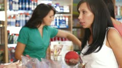 Women Shopping for Beauty Care Products Stock Footage