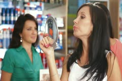 Shopping for Beauty Care Products Stock Footage