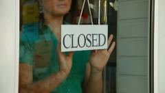 We Are Closed Stock Footage