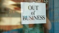 Going Out Of Business - stock footage