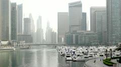 Dubai Marina Yacht Club Stock Footage