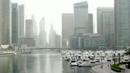 Stock Video Footage of Dubai Marina Yacht Club