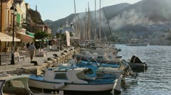 Symi Harbor Stock Footage