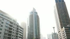 Dubai Marina sun Pan Stock Footage