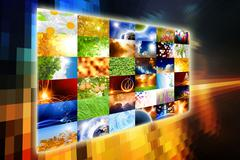 wide media screen - stock illustration