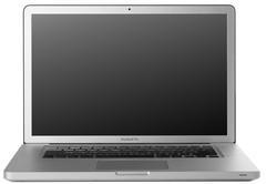 Apple Macbook Pro Mac Laptop Computer Keyboard Blank Screen LCD Stock Photos