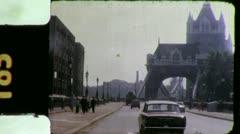 LONDON BRIDGE UK England Street Scene 1970s Vintage Film Home Movie 4281 - stock footage