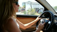Texting while Driving Stock Footage
