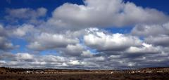 Wide Blue New Mexico Sky - stock photo