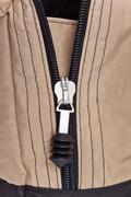 zipper clasp - stock photo