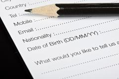 registration form - stock photo