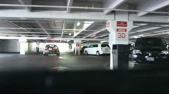 Driving through parking garage V2 - HD Stock Footage