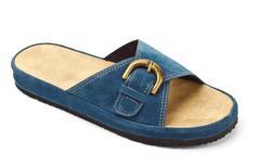 Blue slipper Stock Photos