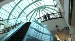 Esculaterdrve up in Mall of the Emirates Stock Footage