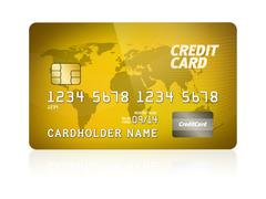 Gold credit card isolated Stock Illustration