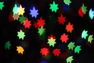 Neon stars holiday background Stock Photos