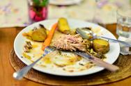 Stock Photo of leftover food