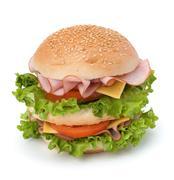 junk food hamburger - stock photo