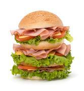 Junk food hamburger Stock Photos