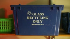 Recycle recycling box blue Stock Footage
