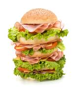 Junk food hamburger Stock Photos