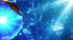 Blue Earth rotation background - stock footage