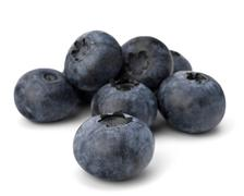 Stock Photo of bilberries or whortleberries cutout