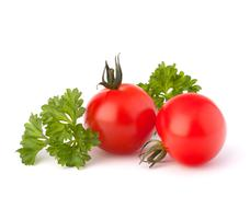 Small cherry tomato and parsley spice Stock Photos