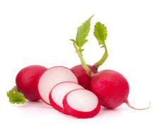 small garden radish - stock photo