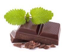 Stock Photo of chocolate bars stack