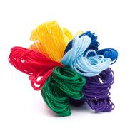 color threads bunch - stock photo