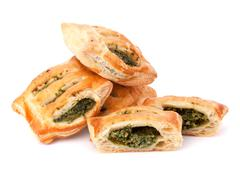 Stock Photo of puff pastry bun isolated on white background.
