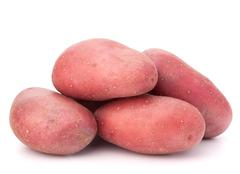 new potato tuber heap - stock photo