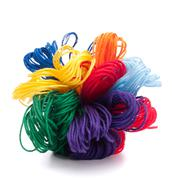 Color threads bunch Stock Photos