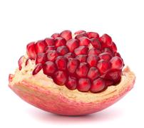 Broken pomegranate segment Stock Photos
