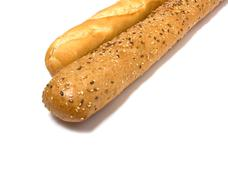baguette isolated on white - stock photo